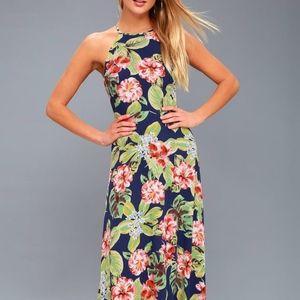 Lulu's Havana Oh Na Na Floral Maxi Dress
